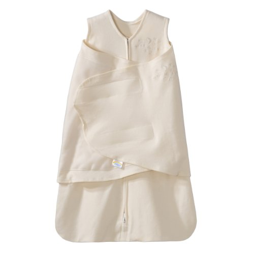 HALO SleepSack 100% Cotton Swaddle, Cream, Newborn