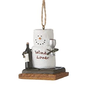 #!Cheap Chocolate Shop S'mores Wine Lover Christmas Ornament