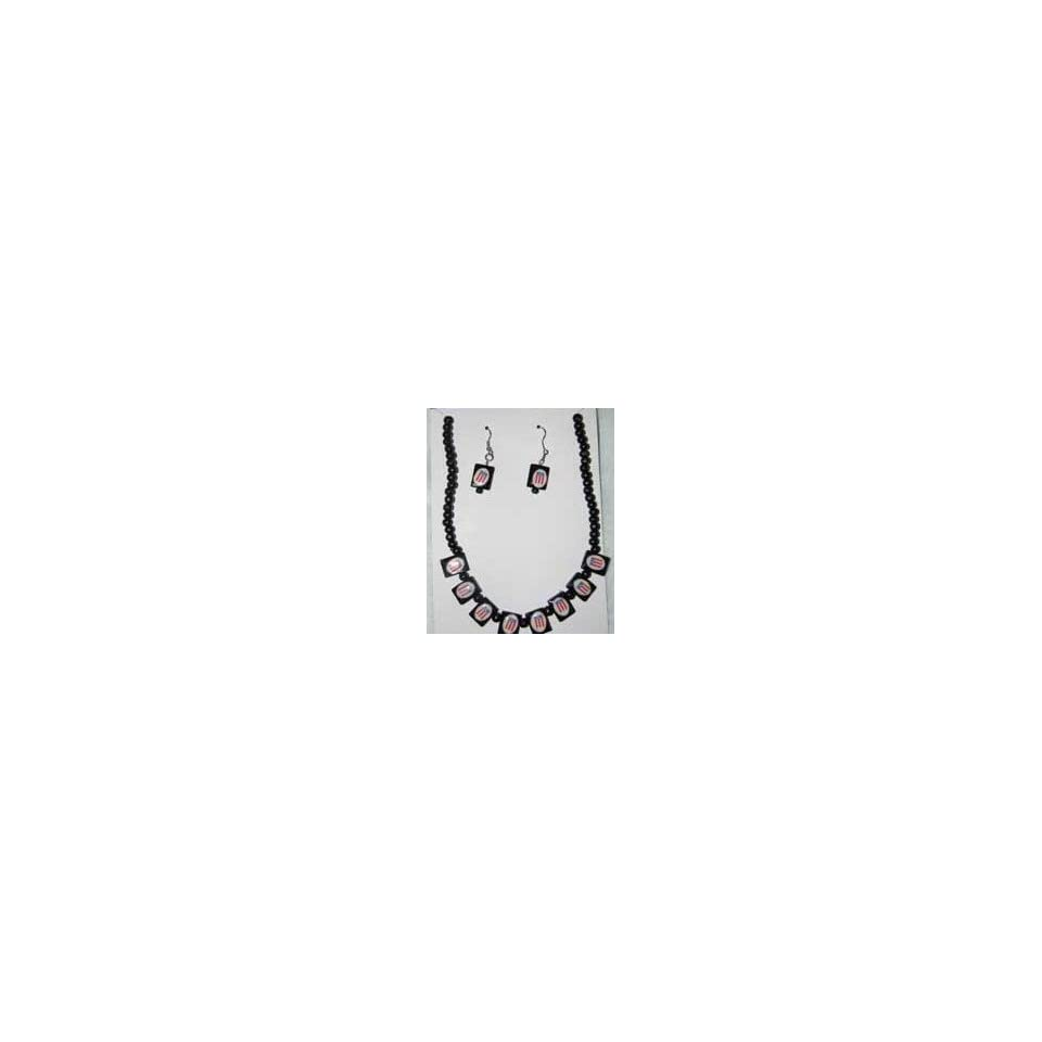 Puerto Rico Necklace/Earrings Set Wood