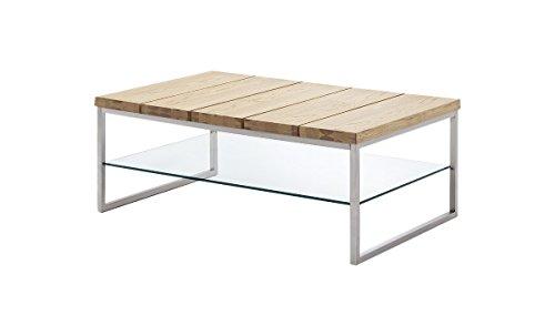 Robas-Lund-58794AZ4-Couchtisch-NORGE-Asteiche-furniert-circa-100-x-60-x-39-cm-teilmassiv-gelt-Gestell-Edelstahl-Optik-Klarglasplatte