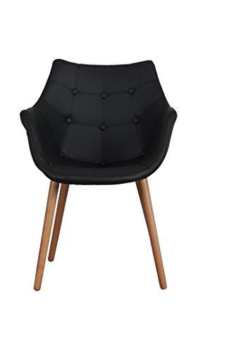 Zuiver-Desinger-Stuhl-ELEVEN-BLACK-Kunstleder-schwarz