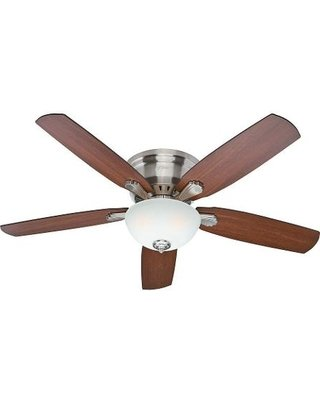 Hunter Princeton 52 In. Indoor Brushed Nickel Ceiling Fan (Silver Flush Mount Ceiling Fans compare prices)