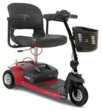 Go-Go Ultra X 3-Wheel Travel Mobility Scooter - Red