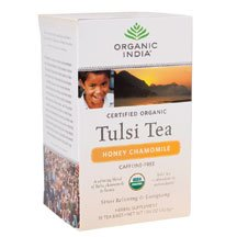 Organic India Tulsi Honey Chamomile, 1.08-Ounce Boxes (Pack of 6) ( Value Bulk Multi-pack)