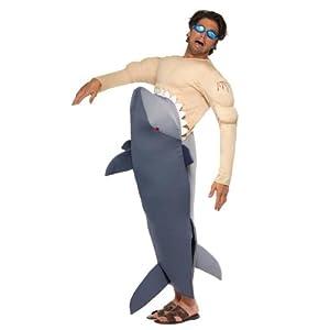 Haikostüm Kostüm Hai Tierkostüm Hai frisst Mann M/L