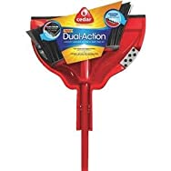 O-Cedar Dual Action Household Broom/Dust Pan-DUAL ACTN BROOM/DUSTPAN
