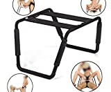 Sex Chair - Moonight Adjustable Height Sex Love Chair,Powerful multifunction chair,Bondage Chair,Elastic sex furniture,Erotic Sex Stool For Couples,Black
