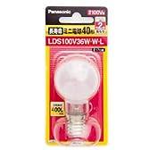 長寿命ミニ電球 40形 ホワイト LDS100V36W