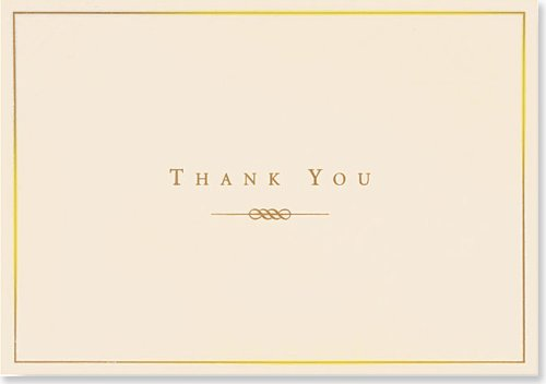 Thank You Notes Gold/cream (Note Card Series)