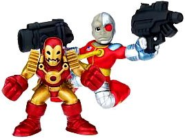 Buy Low Price Hasbro Marvel Superhero Squad Series 14 Mini 3 Inch Figure 2-Pack Deathlok and Iron Man 2020 (B002EAX60U)