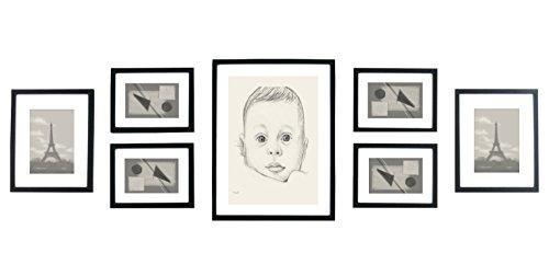 solid-wood-photo-frame-set-7-frames-glass-fronts-with-picture-mounts-frame-width-2cm-black