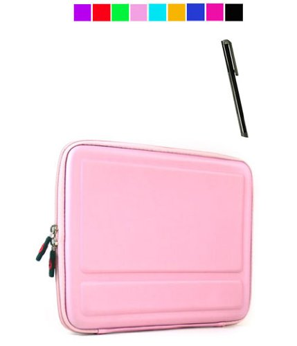 Cube Carry Case for Apple iPad + Black Stylus (Baby Pink)