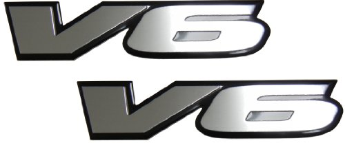 2 x (pair/set) V6 Engine Badge Emblem for Dodge Stratus RT Charger Avenger RAM Magnum Dakota Nitro (Dodge Stratus Emblem compare prices)
