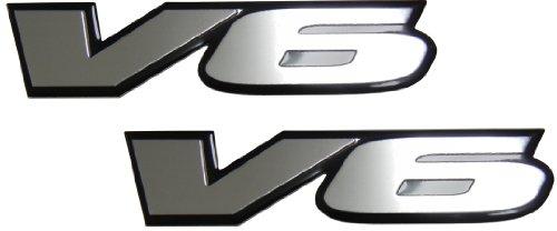 2 x (pair/set) V6 Engine Badge Emblem for Dodge Stratus RT Charger Avenger RAM Magnum Dakota Nitro (Dodge Avenger Rt Badge compare prices)