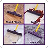 ALL IN ONE! Rubber Broom - Heavy Duty Floor Squeegees, Sweeps & Scrubs w/Telescoping handle