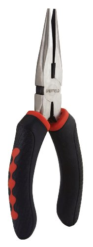 Sheffield 58502 Secure Grip Long Nose Pliers, 6.5 Inch