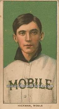 1909 T206 Reprints # 212 Gordon Hickman (Baseball Card) Dean's Cards 8 - NM/MT