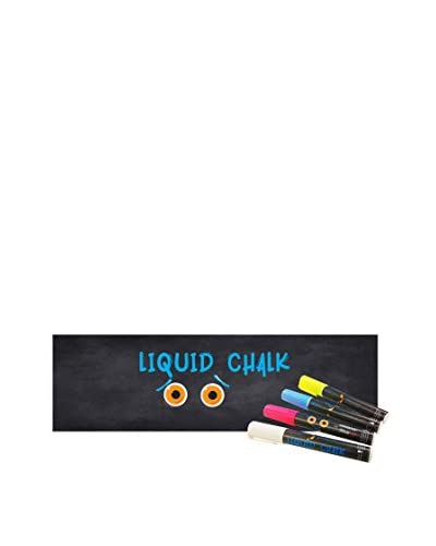 Ambiance Live Vinilo Decorativo Giant chalkboard 200x60 cm (Includes x4 Liguid Chalk) Negro