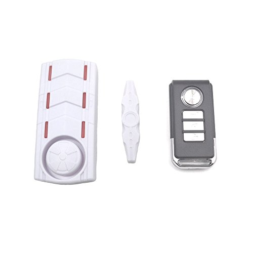 Woshida Rechargeable Vibration and Magnetic Alarm Anti-Theft Remote Control Door And Window Security Alarm with Sound and Light