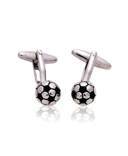 Soccer ball Sports Silver Cufflinks