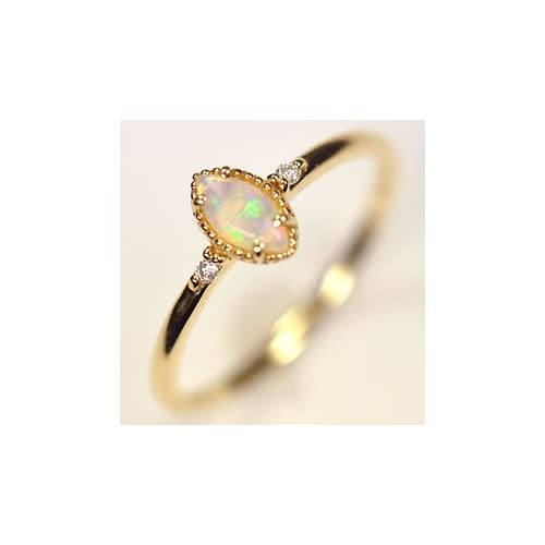 [キュートジュエリー]Cute jewerly ダイヤモンド 指輪 K18・オパール&ダイヤモンド クラシカルマーキスリング 8