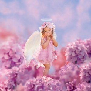 Lilac Angel Child Costume Size 1-2 Toddler (Lilac Angel Toddler Costume)