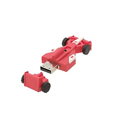 Microware 16GB F1 Ferrari Shape USB 2.0 Flash Drive (Red)