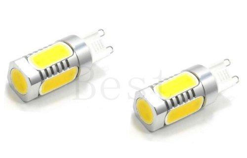 Best To Buy® (2-Pack) G9 7W Cob Led Light Lamp Bulb Ac 110V Ac 220V (110V-220V) Brightest Verson High Quality Warm White