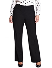 Plus Flat Front 1 Zip Pocket Straight leg Trousers