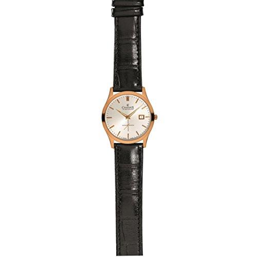 Charmex Ascot Homme 40mm Chronographe Noir Cuir Bracelet Date Montre 2485