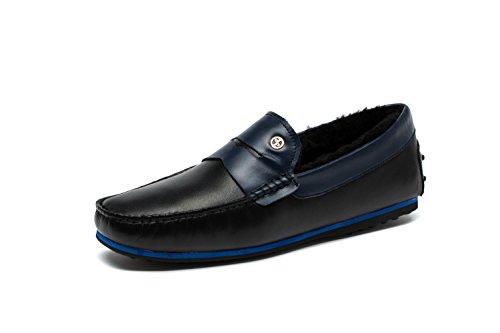 OPP Mode Chaussures de Conduite Mocassins Hiver Chaudes A Enfiler Pour Hommes