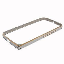 Saihan Screwless Dual Tone Metal Bumper Case Cover For Motorola Moto E 2nd Gen Silver