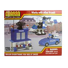 Construction Police Copter, Car and Station - 120 Pieces