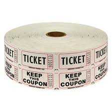 Two (2) Rolls of Two-part White Double Roll Raffle Tickets Totaling 4,000 Tickets (Two Part Raffle Tickets compare prices)