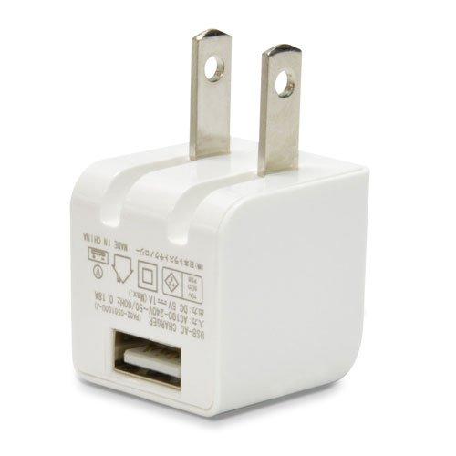 日本トラストテクノロジー クラス最小miniサイズ USB充電器 cube AC mini 1A ホワイト CUBEAC110WH