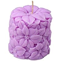 Orlando's Decor Candle Lavender Carved Pillar Candle