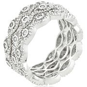 Ladies 9mm Fashion Stackable Eternity Rings - 6