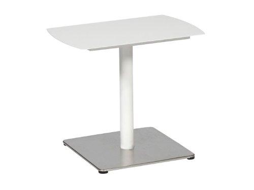 KUBBA Gartentisch Beistelltisch 28×58 Alu Weiß online bestellen