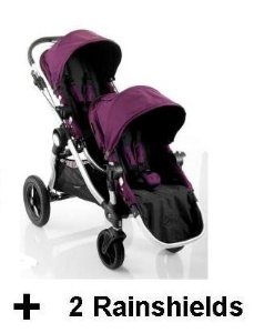 Baby Jogger 2012 City Select Stroller WITH Second Seat and 2 Rainshields- Amethyst by BaJogger