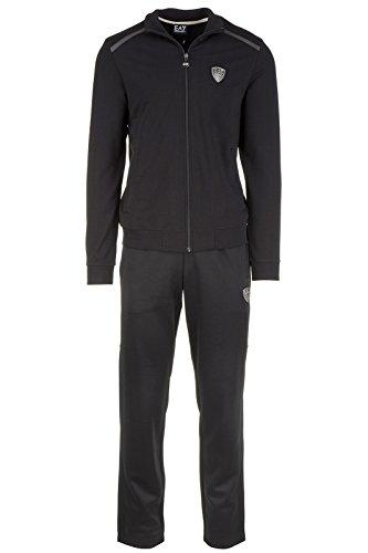 Emporio Armani EA7 tuta uomo fashion completo felpa pantaloni nero EU M (UK 38) 6XPM95 PJ19Z 1200