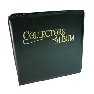 Dragon Shield 3 Inch D-Ring 3 Ring Binder: Black Leatherette Trading Card Collector's Album