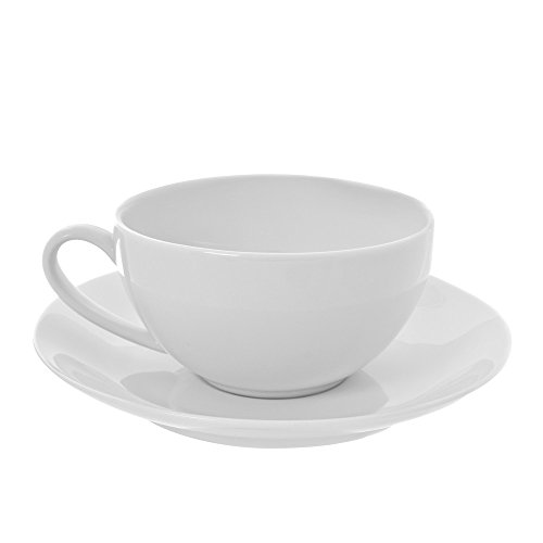 10 Strawberry Street RCP00096 Royal Coupe Oversized Cup/Saucer, Set of 6, White