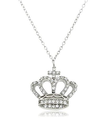 Diamonere Elizabeth Crown Necklace, Silver