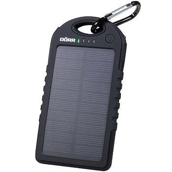 Dörr Solar Powerbank SC-5000 leistungsstarke und mobile Energiequelle für Smartphone/Tablet/Navigationssysteme/MP3-Player/Kamera 5000mAh/5V (25Wh) schwarz