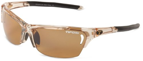Tifosi Radius 1050604760 Polarized Wrap Sunglasses,Crystal Brown,141 mm