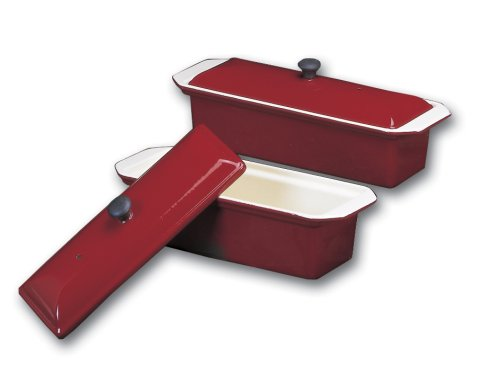 Chasseur large red enamel cast-iron pate terrine mold