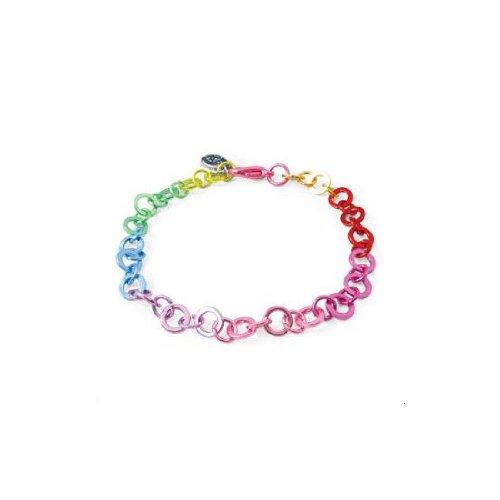 Charm It Childrens Girls Charm Bracelet Rainbow Link