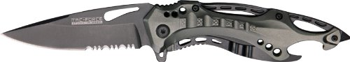 Tac Force Tf-705Gy Tactical Assisted Opening Folding Knife 4.5-Inch Closed