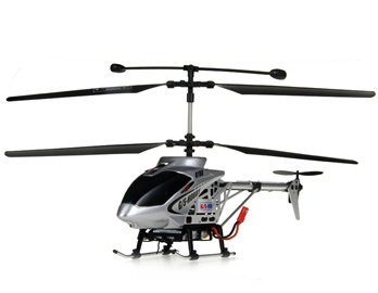 Hobby GS350 27MHz Alloy RC Helicopter with Electronic Speed Control, 3D Gyroscope (Silver)
