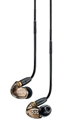 Shure SE535V Earphones (Bronze) & CBL-M-K Music Phone Cable for Android Phones + 3.5mm Y cable